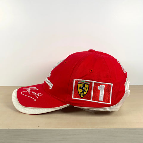 2001 MICHAEL SCHUMACHER OFFICIAL FERRARI CAP - BN without tags