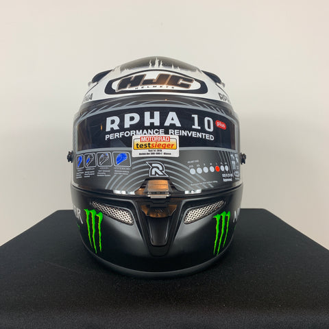 HJC FULL RPHA 10 PLUS JORGE LORENZO GHOST FUERA MC-5F - SIZE L