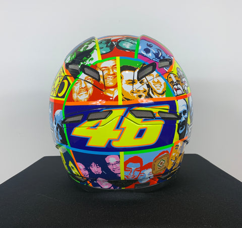 2010 AGV GP TECH ROSSI LIMITED EDITION FACES HELMET - SIZE X SMALL