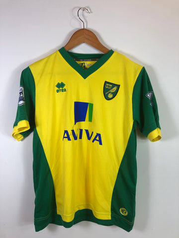2013/14 Norwich Home Shirt Boys age 13-14 (40) - #5 Bassong