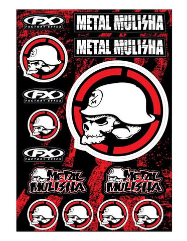 FACTORY EFFEX METAL MULISHA STICKER SHEET