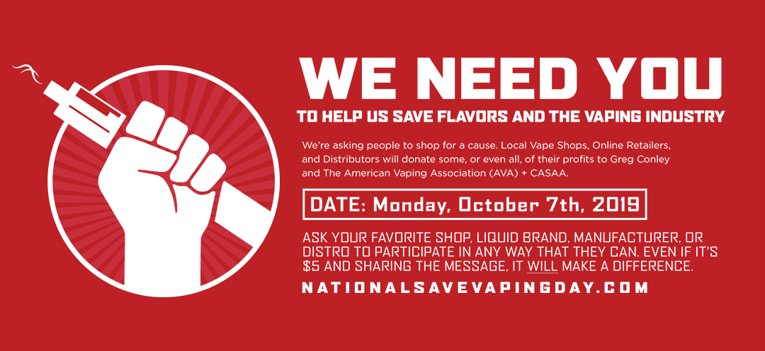 National Save Vaping Day is October 7th!