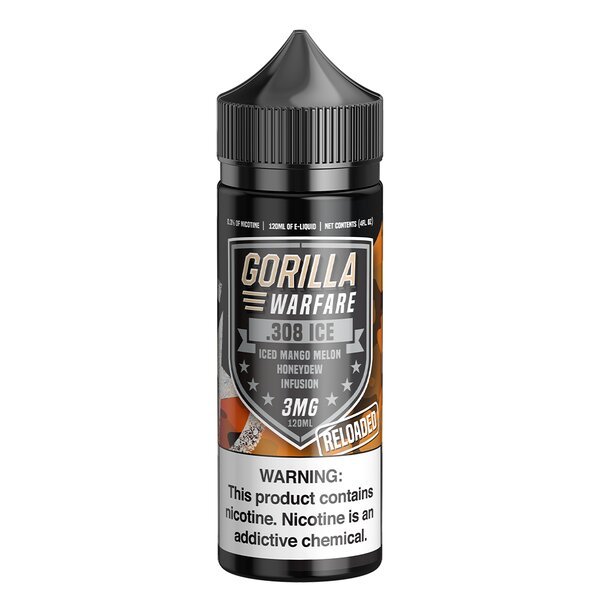 .308 Reloaded ICE - Gorilla Warfare E-Liquids - 120mL - My Vpro