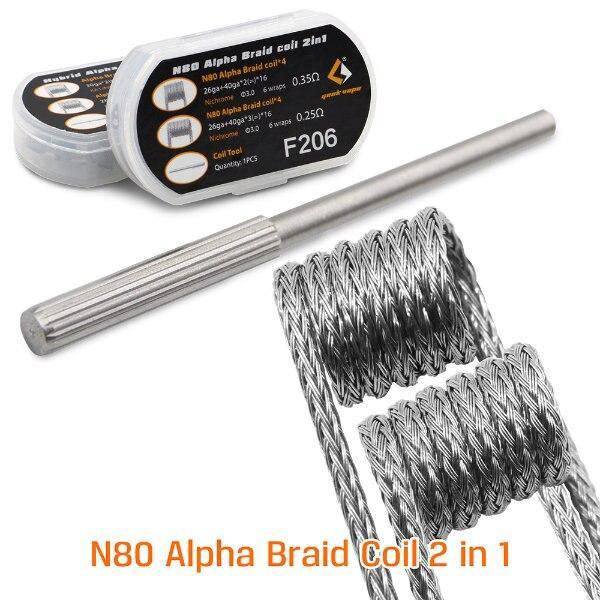 8pcs GeekVape N80 Alpha Braid Coil 2 in 1 - My Vpro