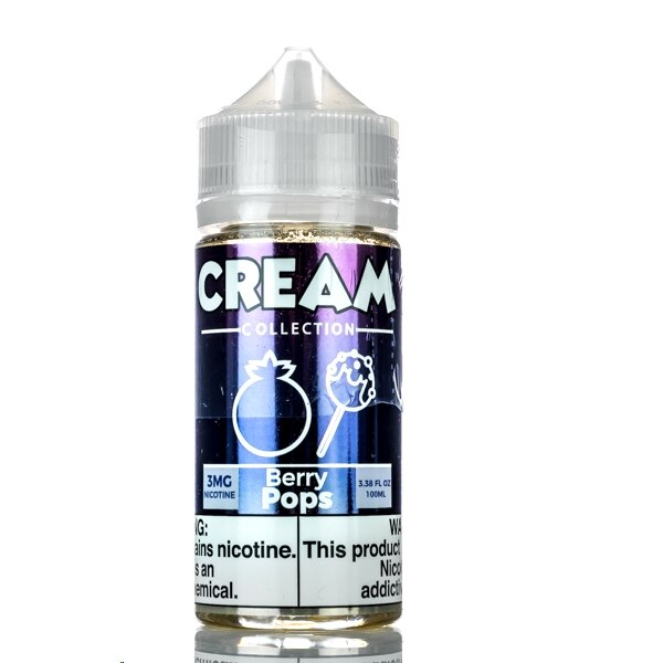 Vape 100 - Berry Pops - Cream Collection - 100ml