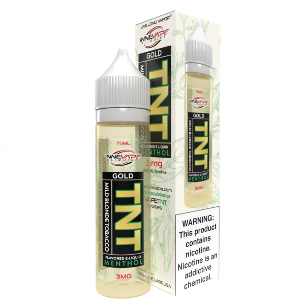 Gold - Mild Blonde Tobacco Menthol - TNT by Innevape Labs - 75mL - My Vpro