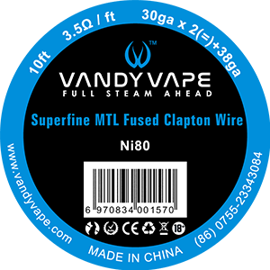 Vandy Vape - Superfine MTL Fused Clapton Wire