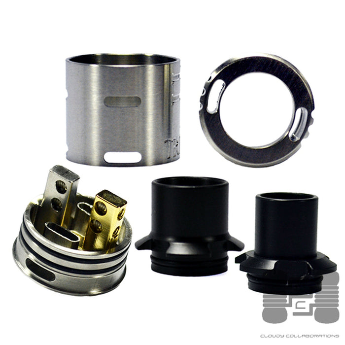 NYC Vape Hardware The Triple 22mm RDA SS Disassembled
