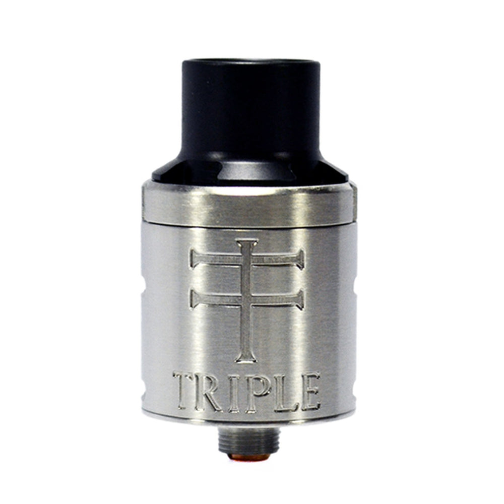 NYC Vape Hardware The Triple 22mm RDA SS Front