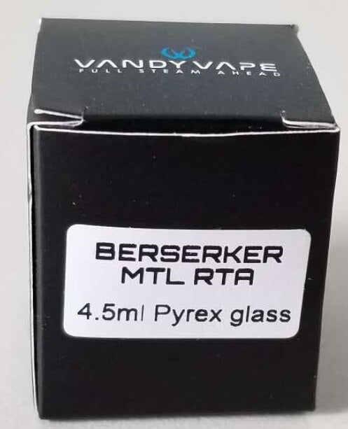 Vandy Vape Authentic Replacement Glass Tube