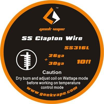 Clapton SS316 (26GA + 30GA) Wire 10ft by Geekvape Hardware Geek Vape