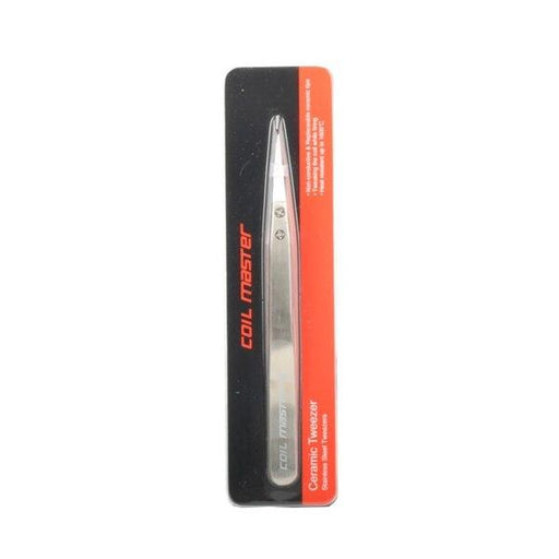 Coil Master - Ceramic Tweezers | Stainless Steel Body Hardware Coil Master