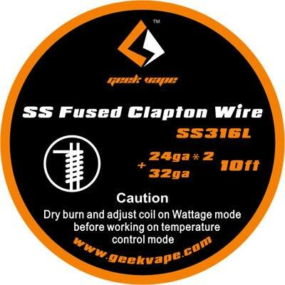 Fused Clapton SS316 (24GA*2 + 32GA) Wire 10 ft by Geekvape Hardware Geek Vape