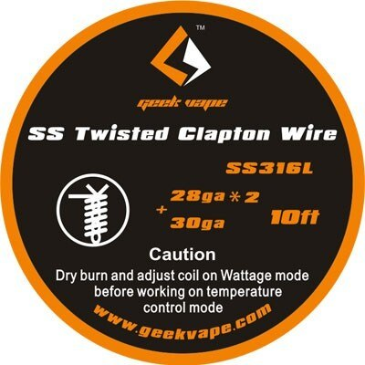 Twisted Clapton SS316 (28GA*2+ 30GA) Wire 10ft by Geekvape