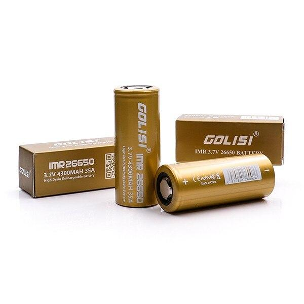 GOLISI - 26650 3.7V 4300MAH 35A High-drain Battery - High-Drain Devices