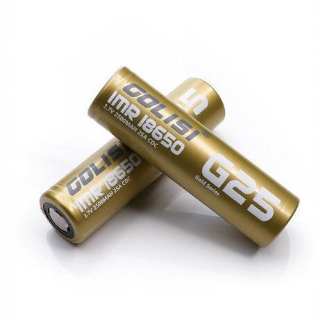 GOLISI IMR 18650 30A 2500mAh Battery with Flat Top Hardware Golisi