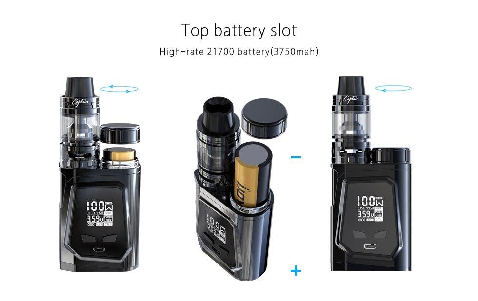IJOY CAPO 100 with Captain Mini 21700 TC Kit | One IJOY 20700 Battery Included Hardware IJOY