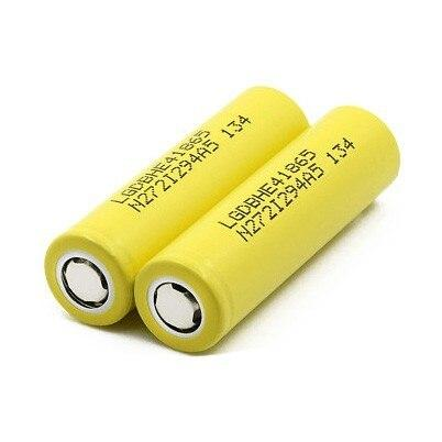 LG HE4 18650 2500mAh 35A 3.6V High Drain Rechargeable Battery Hardware LG