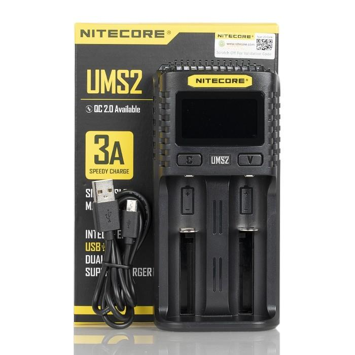 Nitecore UMS2 Intelligent USB Dual Battery Charger Hardware Nitecore