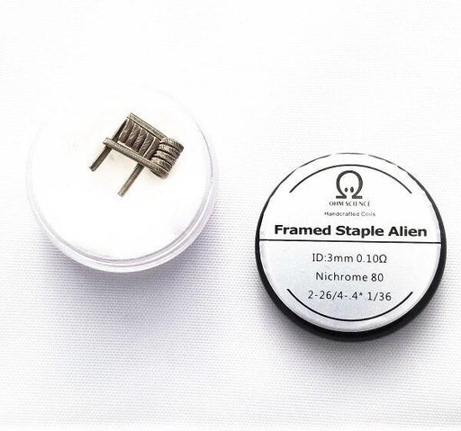Ohm Science - Framed Staple Alien Hand Crafted Coils - 2pcs Hardware OHM Science