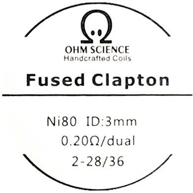 Ohm Science - Fused Clapton Hand Crafted Coils - 2pcs Hardware OHM Science