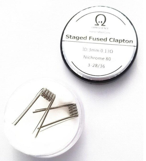 Ohm Science - Staggered Fused Clapton Hand Crafted Coils - 2pcs Hardware OHM Science