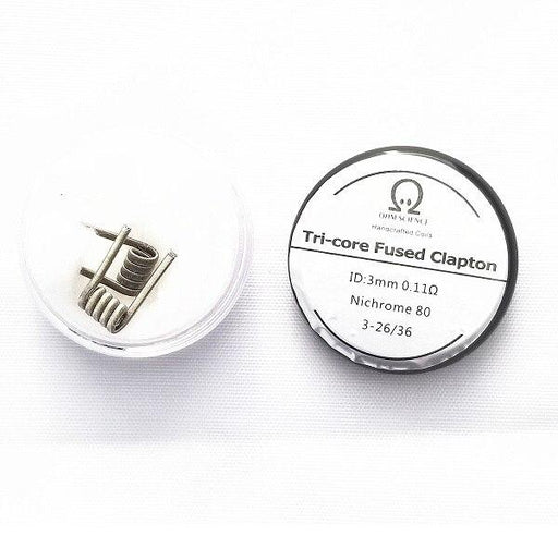 Ohm Science - Tri-Core Fused Hand Crafted Coils - 2pcs Hardware OHM Science