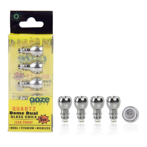 Ooze Dual Quartz Dome Replacement Coils (5 pack) Hardware Ooze