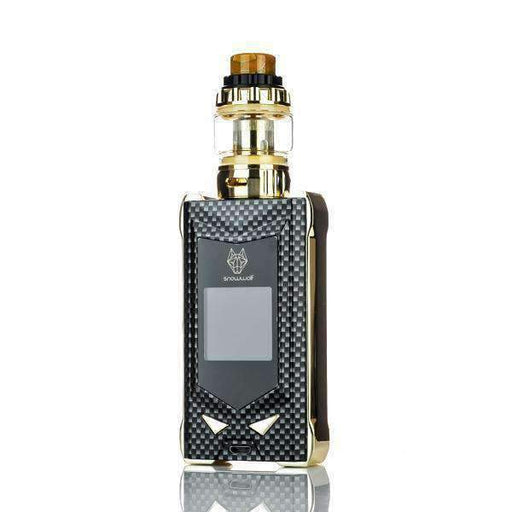 SNOWWOLF MFENG 200W TC STARTER KIT Hardware Sigelei Gold / Black Carbon Fiber