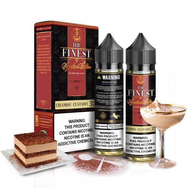 The Finest Signature Edition - Tiramisu Custard 2x60mL E-Liquid The Finest E-Liquids