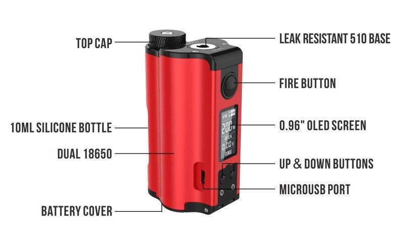 Topside Dual 200W Squonk Mod by Dovpo and TVC (New Colors - In Stock!)
