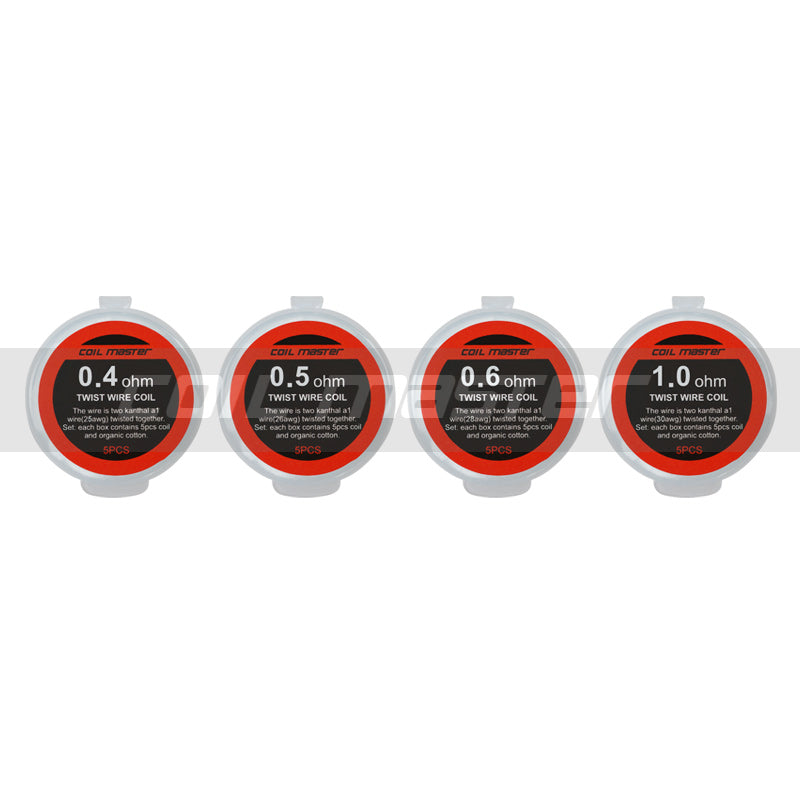 Coil Master - Twist Wire Pre-Built Coils (5pcs) - My Vpro