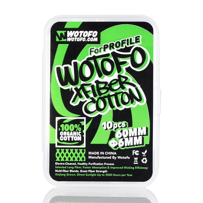 Wotofo Agleted Organic Xfiber Cotton 6mm (for Profile RDA) - My Vpro