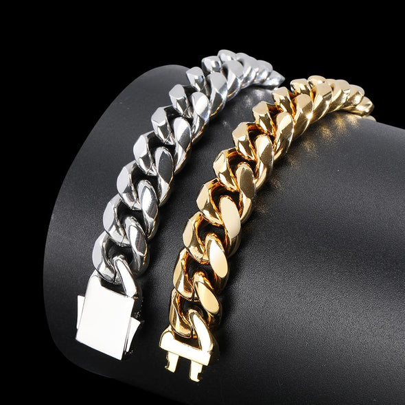 10mm Cuban Link Bracelet - Various Colours Bracelet Ross and Specter