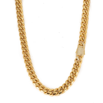 10mm Cuban Link Chain - Various Colours Necklace Ross and Specter