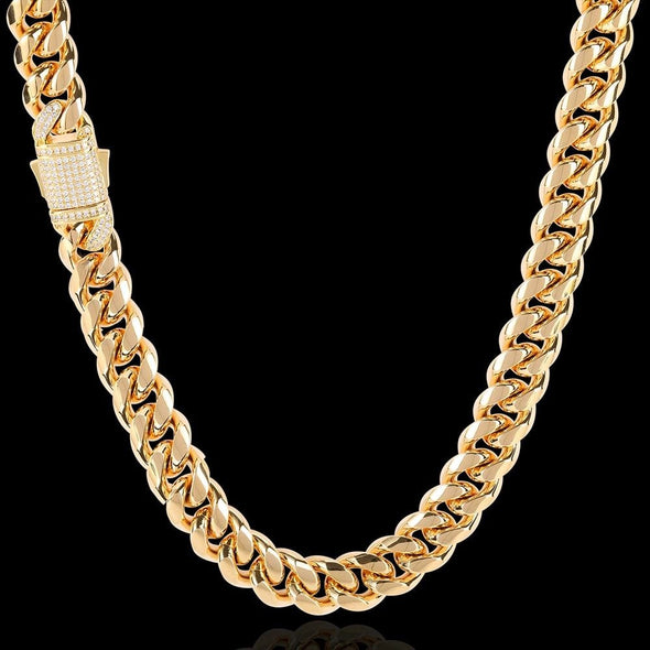 12mm Cuban Link Chain - Various Colours Necklace Ross and Specter 40cm Gold