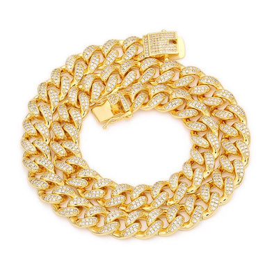 12mm Miami Cuban Link Chain - Various Colours Cuban Ross and Specter 50cm Gold