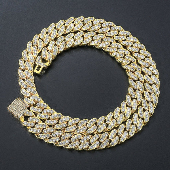 13mm Miami Cuban Link Chain (Single Row) - Various Colours Necklace Ross and Specter