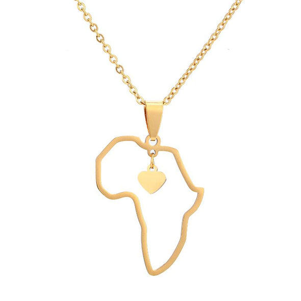 Africa Heart Necklace - Various Colours Necklace Ross and Specter