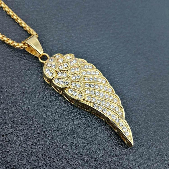 Angel Wing Necklace - Various Colours Necklace Ross and Specter Gold