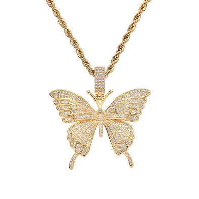 Butterfly Necklace - Various Colours Necklace Ross and Specter Gold 40cm