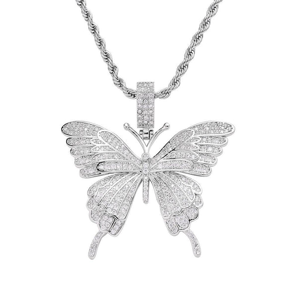 Butterfly Necklace - Various Colours Necklace Ross and Specter Silver 40cm