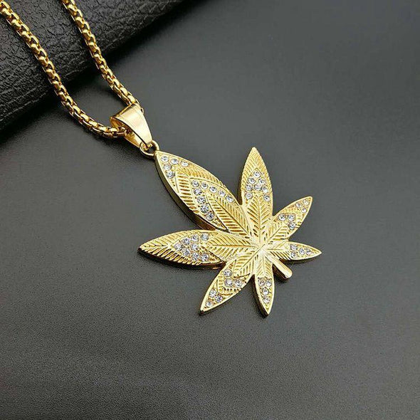 Cannabis Necklace - Various Colours Necklace Ross and Specter Gold