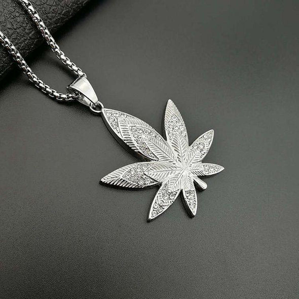 Cannabis Necklace - Various Colours Necklace Ross and Specter Silver