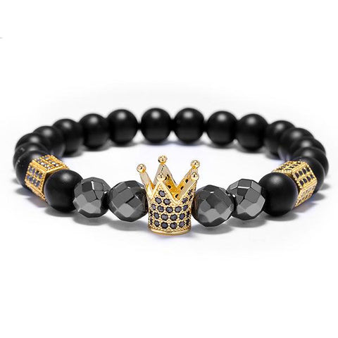 Crown Hematite - Black Stone Stone Ross and Specter Gold 17cm