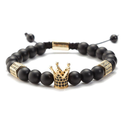 Crown Hexagon - Black Stone Stone Ross and Specter Gold