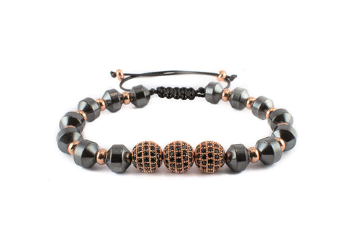 Crystal Sphere Bracelet - Various Colours Cross Ross and Specter Rose Gold