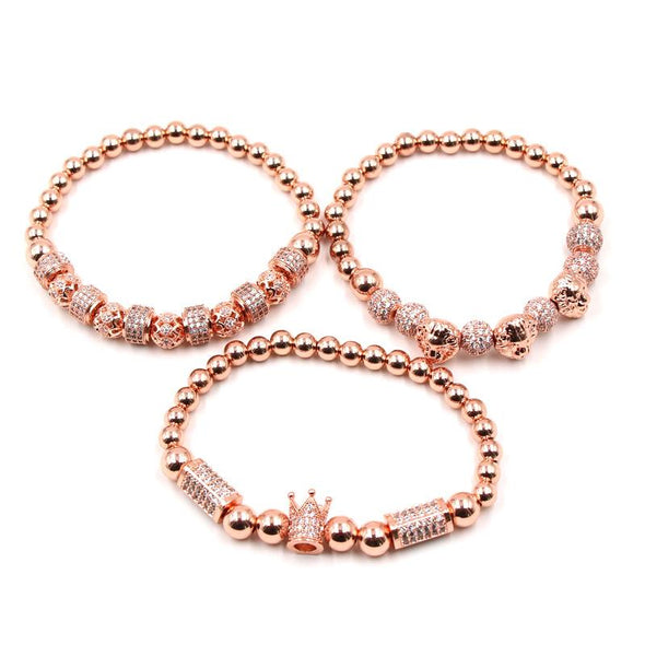 Lion Bracelet Set (3pc) - Various Colours Lion Ross and Specter 17cm Rose Gold