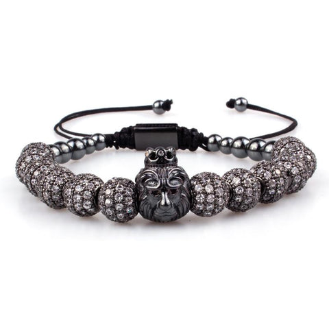 Lion Bracelet - Various Colours Lion Ross and Specter Black