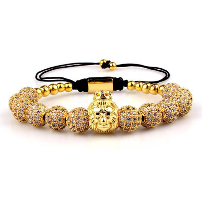 Lion Bracelet - Various Colours Lion Ross and Specter Gold